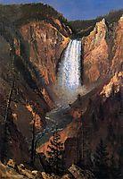 Lower Yellowstone Falls, 1881, bierstadt