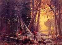 Moose Hunters Camp, c.1880, bierstadt