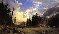 The Morteratsch Glacier, Upper Engadine Valley, Pontresina, 1895, bierstadt