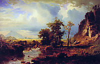 North Fork of the Platte Nebraska, 1863, bierstadt