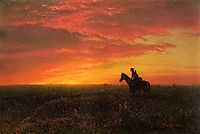 On the Plains, Sunset, bierstadt