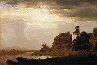 On the Sweetwater Near the Devil-s Gate, Nebraska , 1860, bierstadt