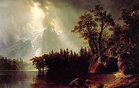 Passing Storm over the Sierra Nevada, 1870, bierstadt