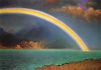 Rainbow over Jenny Lake, Wyoming, bierstadt