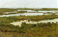 A River Estuary, bierstadt