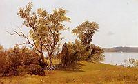 Sailboats on the Hudson at Irvington, c.1889, bierstadt