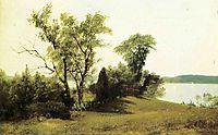 Sailing on the Hudson, bierstadt