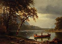 Salmon Fishing on the Cascapediac River, bierstadt