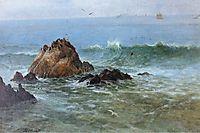 Seal Rocks on Pacific Coast, California, bierstadt