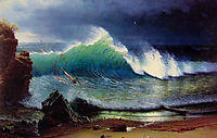 The Shore of the Turquoise Sea, 1878, bierstadt