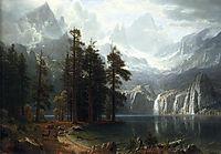 Sierra Nevada, 1873, bierstadt