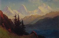 Splendour of the Grand Tetons, bierstadt