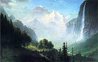 Staubbach Falls, Near Lauterbrunnen, Switzerland, c.1856, bierstadt