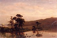 Study for Gosnold at Cuttyhunk, 1858, bierstadt