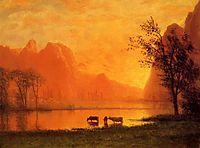 Sundown at Yosemite, c.1863, bierstadt