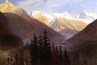 Sunrise at Glacier Station, bierstadt