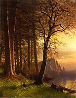 Sunset in California Yosemite, bierstadt