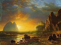 Sunset on the Coast, 1866, bierstadt