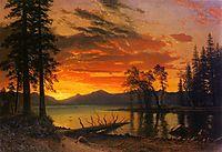 Sunset over the River, bierstadt