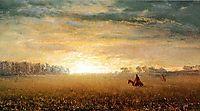 Sunset of the Prairies, bierstadt