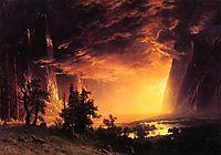 Sunset in the Yosemite Valley, 1869, bierstadt