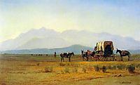 Surveyors Wagon in the Rockies, c.1859, bierstadt