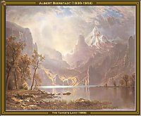 The Tahoe-s Lake, 1868, bierstadt