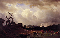 Thunderstorm in the Rocky Mountains , 1859, bierstadt