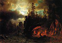 The Trapper-s Camp, 1861, bierstadt
