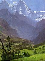 Twin Peaks, Rockies, bierstadt