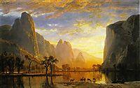 Valley of the Yosemite , 1864, bierstadt