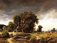 Westphalian Landscape, 1855, bierstadt