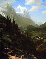 The Wetterhorn, 1857, bierstadt