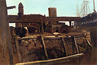 Wharf Scene, bierstadt