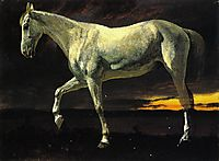 White Horse and Sunset, c.1863, bierstadt