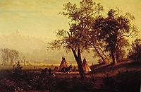 Wind River Mountains Nebraska Territory, 1862, bierstadt