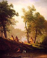 The Wolf River, Kansas , c.1859, bierstadt