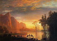 Yosemite Valley Sunset, c.1865, bierstadt