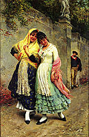 The Flirtation, 1889, blaas