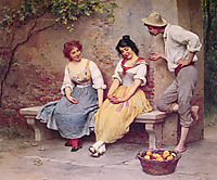 The Flirtation, 1904, blaas
