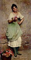 The Flower Seller, 18, blaas