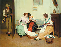 The Friendly Gossips, 1901, blaas