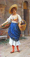 The Fruit Seller, 18, blaas