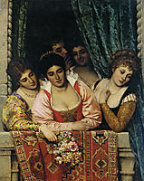 Ladies on a Balcony, 1875, blaas
