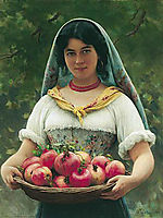 Madchen mit Granatapfeln or Girl with Pomegranates, 1912, blaas