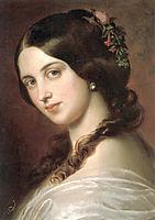 Madchenbildnis, 1850, blaas
