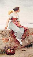 A Pensive Moment, 1896, blaas