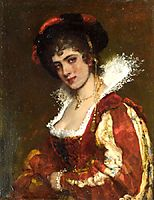 Portrait of a Venetian Lady, 18, blaas