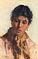 Portrait of a Woman, 1900, blaas