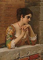 Venetian Beauty on Balcony, 18, blaas